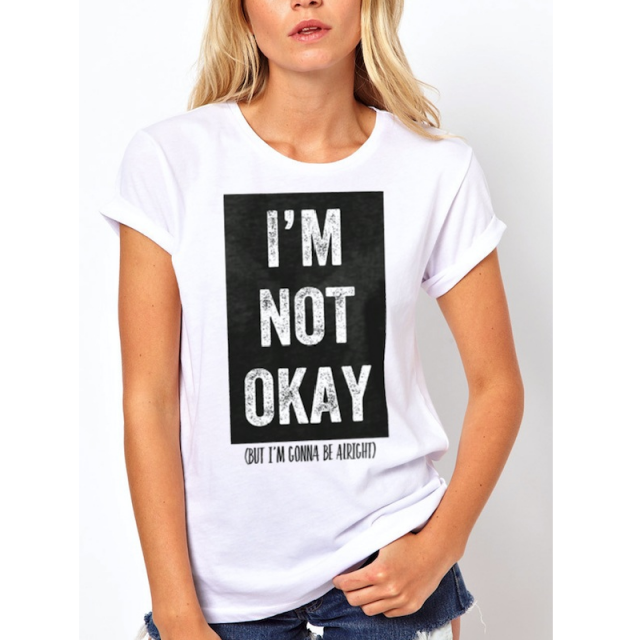 Lauren Alaina Ladies White I'm Not Okay Tee